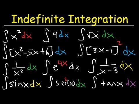 Indefinite Integral - Basic Integration Rules, Problems, Formulas, Trig Functions, Calculus