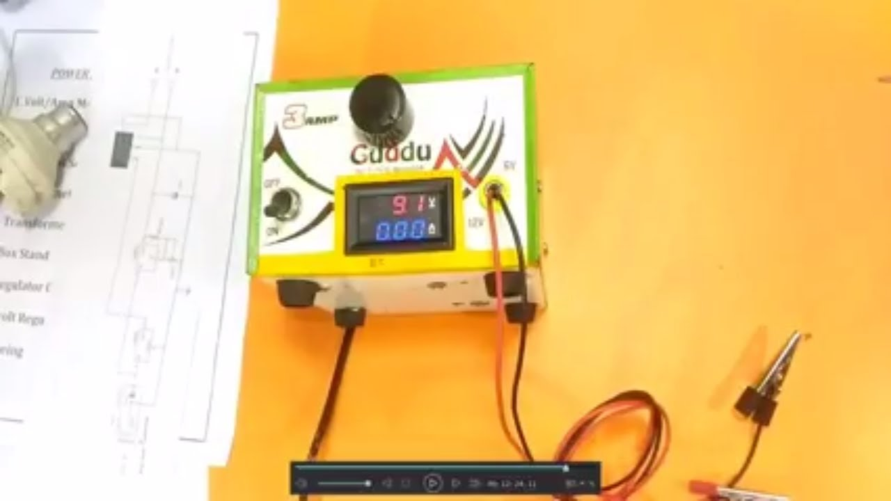 how to make a adjustable 1v 15vdc power supply in hindi with all