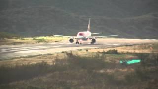 Avianca A320 A318 desde la Torre de control y el interior de avión