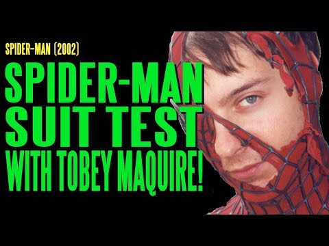 SPIDERMAN Suit Test with Tobey Maguire BTS
