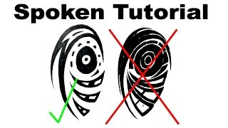 Spoken Tutorial - How I Draw a Tribal Upperarm Tattoo Design
