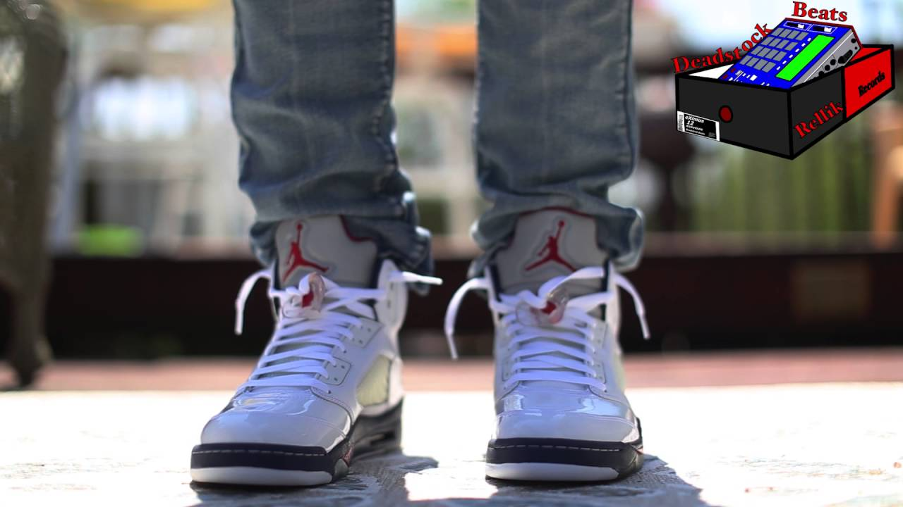 the best attitude fe7f3 f5b14 Air Jordan 5 Independence Day On Feet