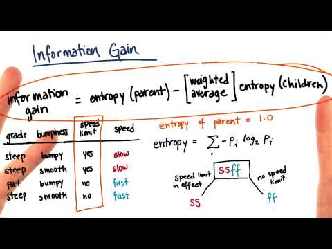 Information Gain Calculation Part 10 - Intro To Machine Learning