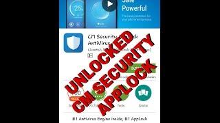 CM SECURITY applock unlock TRICK./UNLOCKED MOST DOWNLOADED APPLOCK 2016