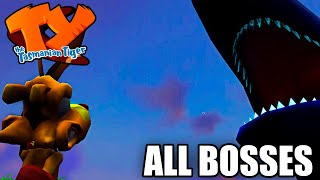 TY The Tasmanian Tiger - All Bosses (With Cutscenes) HD