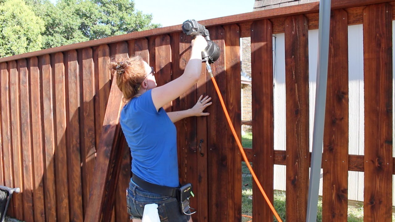Building a Board on Board Cedar Fence - Part 2