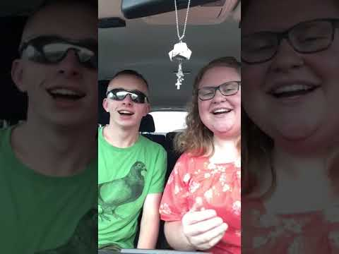 Jason and Danielle lip sync Love is an Open Door