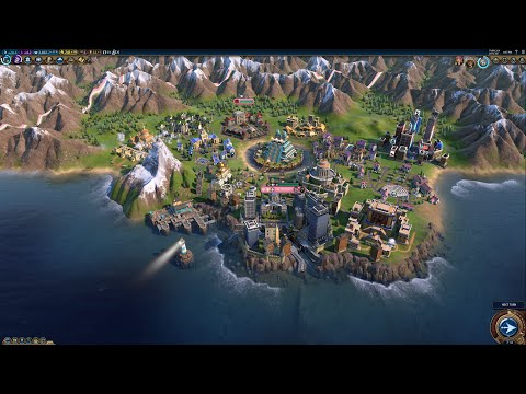 Civ 6 AI Only Timelapse: Cities Through The Ages