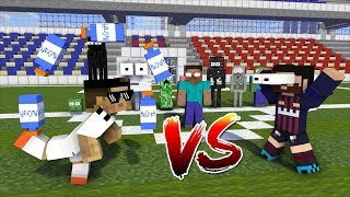 Monster School : Ronaldo vs Messi FUSSBALL HERAUSFORDERUNGEN! - Minecraft Animation