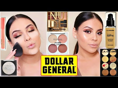 FULL FACE OF DOLLAR STORE MAKEUP: DOLLAR GENERAL MAKEUP HIDDEN GEMS! | JuicyJas