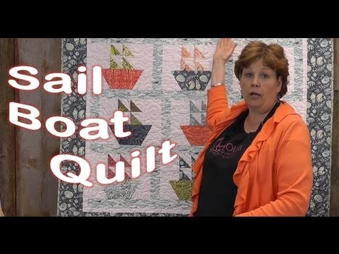 "Sail Boat Quilt Tutorial Using the 10"" Half Hexagon!"