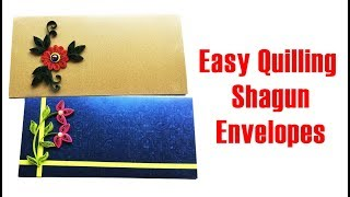 How to make Quilling Shagun Envelope | Quilling Gift envelope | Quilled gift envelope