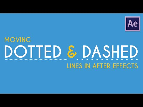 Moving Dotted/Dashed Lines | After Effects Tutorial