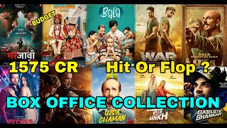 Box Office Collection Of Marjaavaan, Motichoor Chaknachoor, HF4, Bala, War Movie Etc 2019