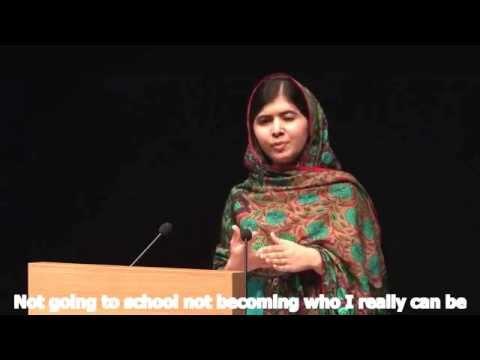 Malala's Nobel peace prize speech english Subtitled (please turn on Captions (cc) )