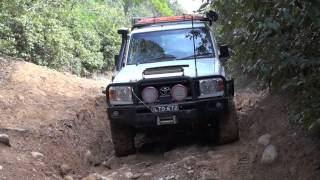 Toyota Landcruiser 76 and 73 models, beach track..