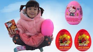 Trò Chơi Săn Và Bóc Trứng Bất Ngờ Lấy Đồ Chơi ❤ AnAn ToysReview TV ❤