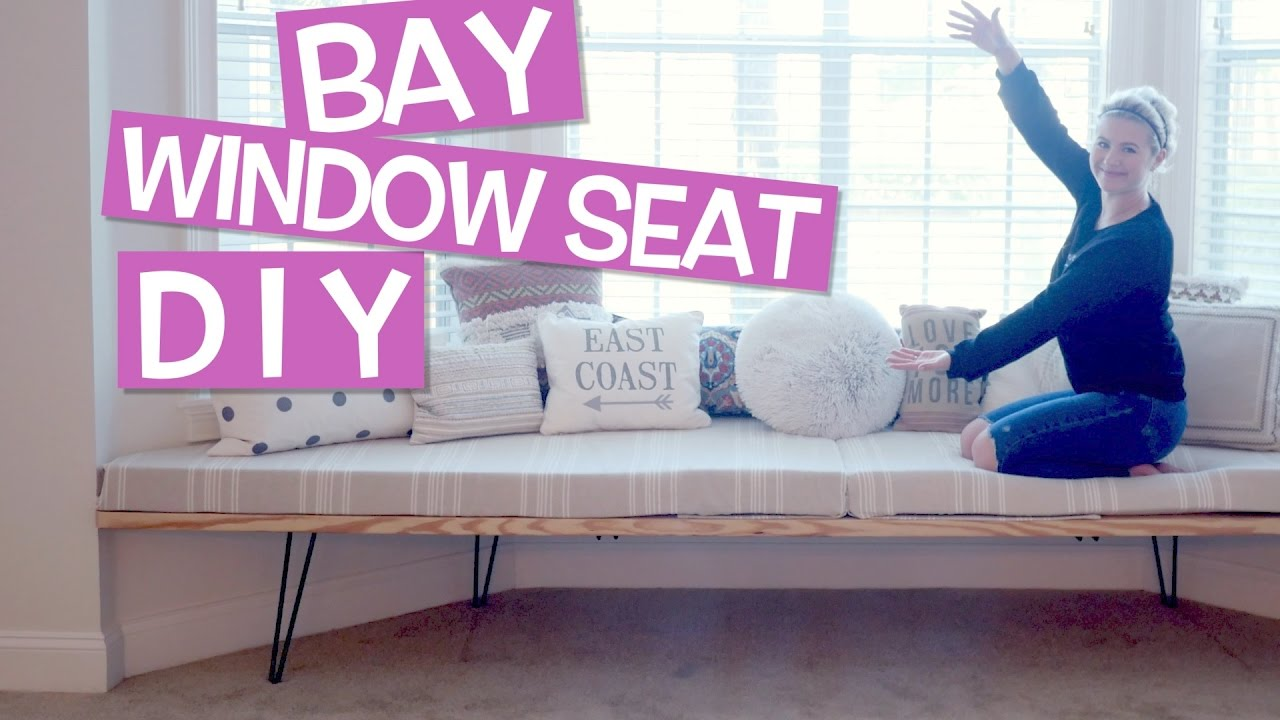 Diy How To Bay Window Seat House Update Milabu Youtube