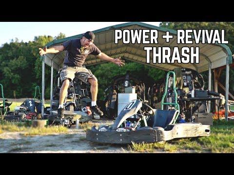 Abandoned Race Kart Revival, Hi Power Engine Swap + Thrash!