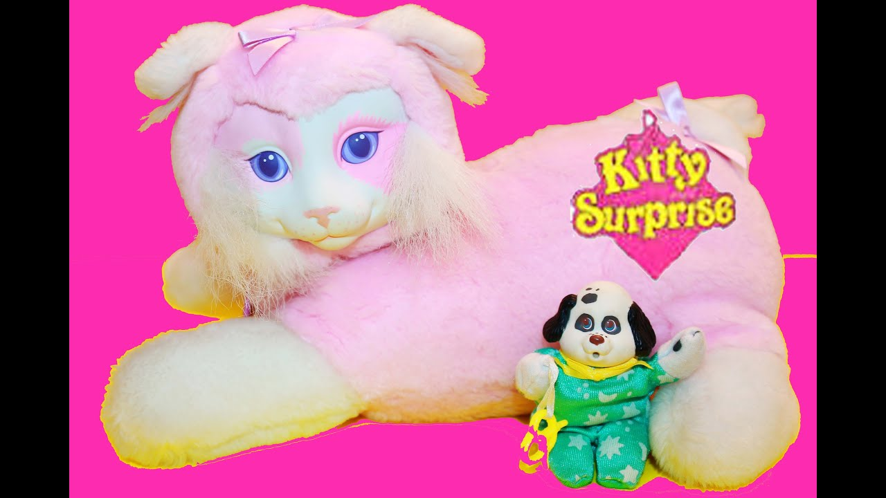 HUGE Surprise KITTY SURPRISE Toy Video VINTAGE Puppy Surprise Dog
