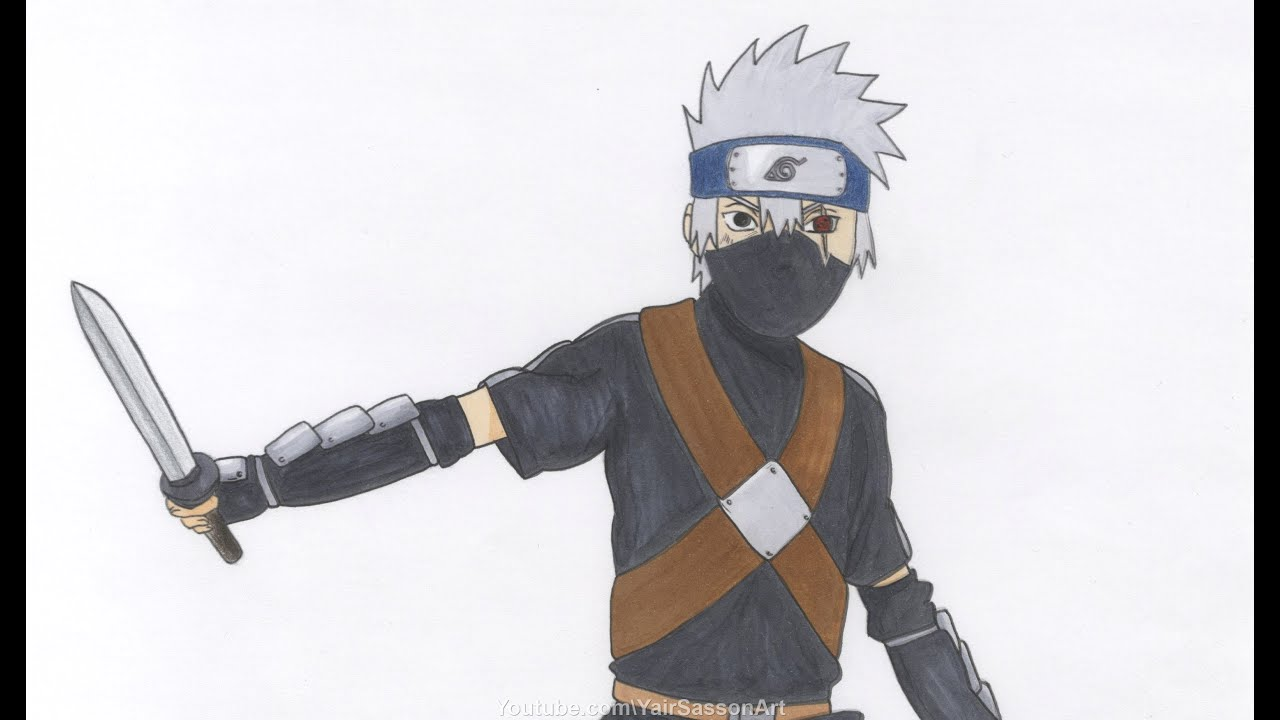 How To Draw Kakashi As A Kid