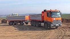 Mercedes Arocs tridem with Schwarzmuller trailer