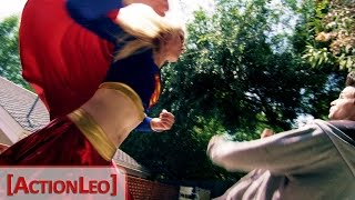 Repeat youtube video Supergirl Fight Scene (Live Action)