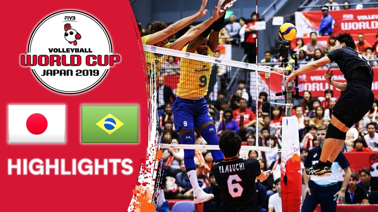 JAPAN vs. BRAZIL - Highlights | Men's Volleyball World Cup 2019 - YouTube