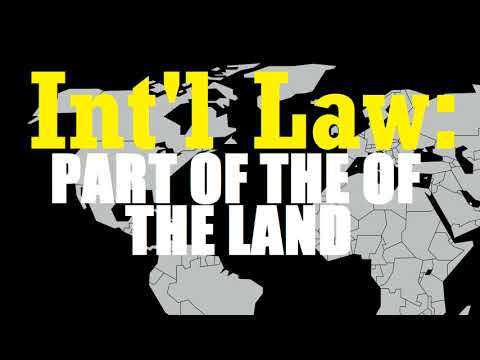 International Law as Part of the Law of the Land (159 US 113; 1895)