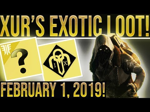 Destiny 2 Forsaken. Xur Location/Exotic Loot February 1, 2019! (EXOTIC SMG!) Where is Xur 2-1-2019? thumbnail