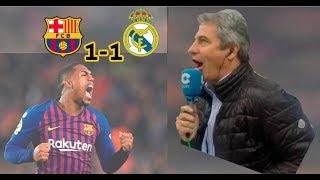 Barcelona 1-1 Real Madrid | Narración de Manolo Lama en Tiempo de Juego COPE