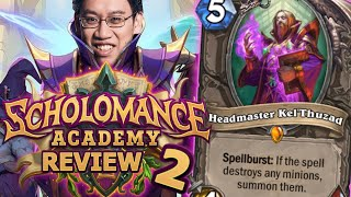 KEL'THUZAD REVEALED! - Scholomance Academy Review #2 | Hearthstone
