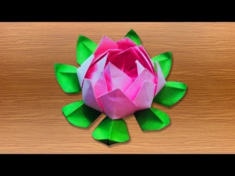 3d origami lotus flower tutorials || how to make an origami lotus flower