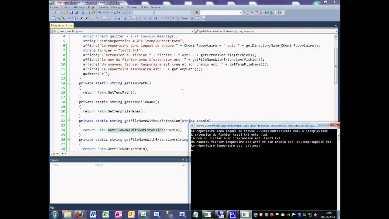 Tutoriel 65 Classe Path en C# en français