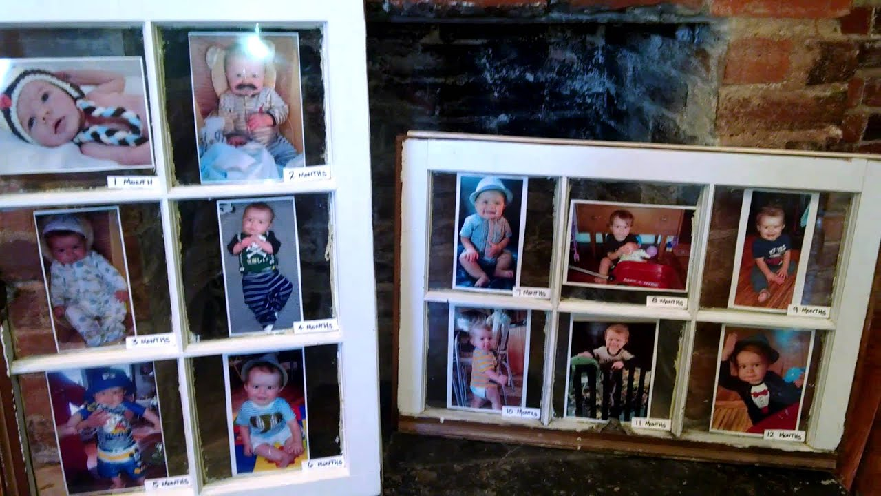 DIY Pinterest Inspired Window Pane to Picture Frame - YouTube