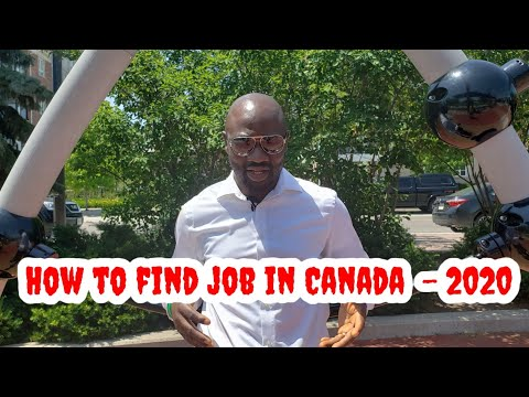 How To Find A Job In Canada - 2020