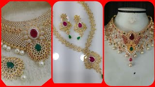 Living latest style stoneville party wear gold jewelry