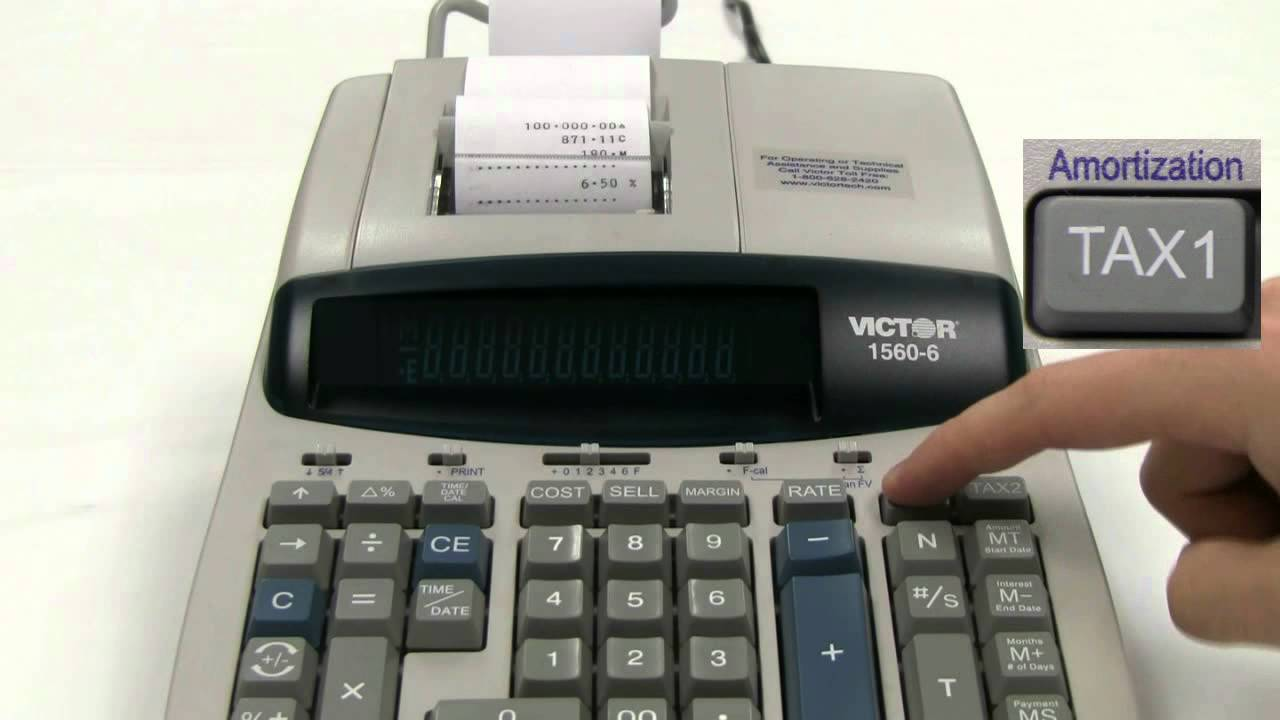 1560-6 professional grade heavy duty commercial printing calculator