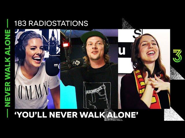 De beelden: 183 radiostations draaien 'You'll Never Walk Alone' | NPO 3FM
