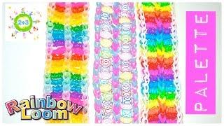 Палитра браслет из резинок Palette Rainbow loom bands tutorial for kids DIY(В этом видео канала