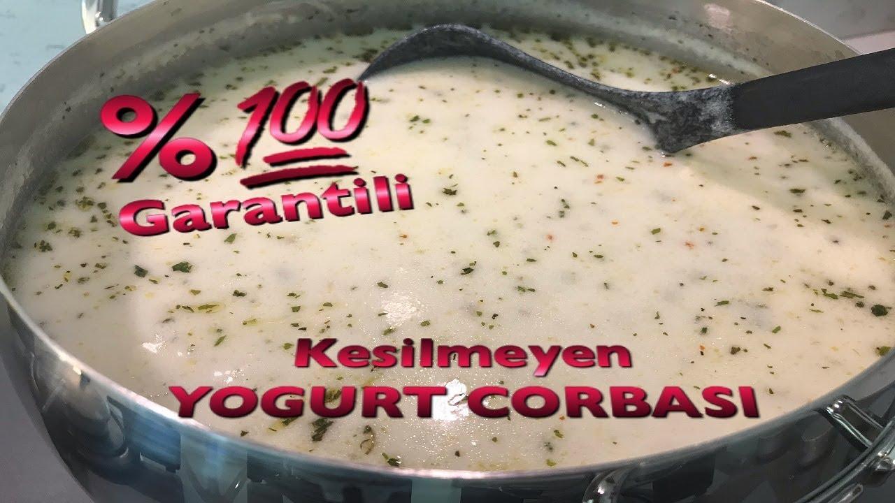 Kesilmeyen Yogurt Corbasi Yuzde Yuz Garantili Tarif Yayla Corbasi Nasil Yapilir Youtube
