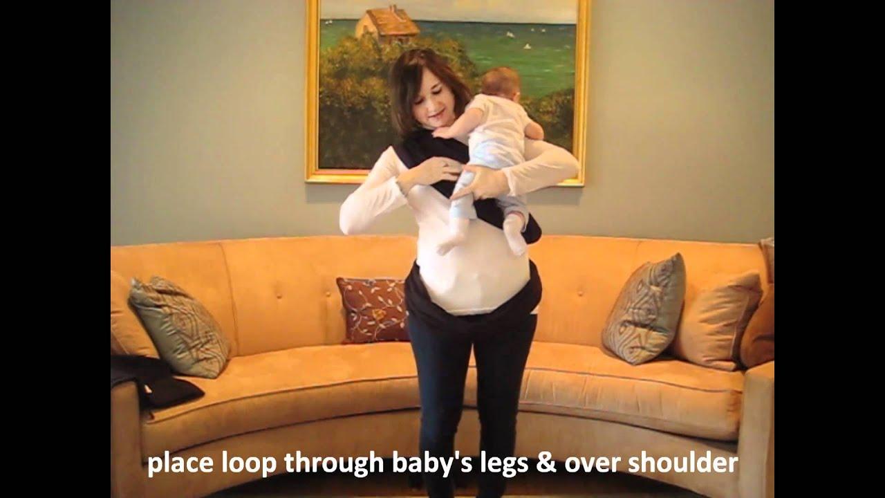 a8dbfa374dc Baby K tan Hug Position Instructions - YouTube