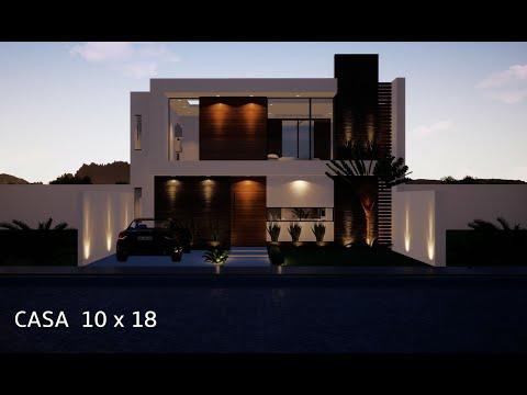 Casa 10x18 Mts House 10x18 Mts Recorrido Virtual 3d Proyecto Casa M