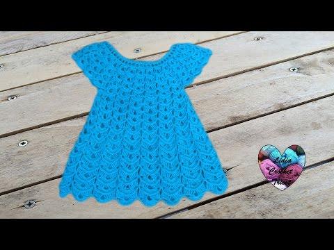 Robe En Relief Magnifique Crochet 1/2 / Vestido En Relieve Tejido A Crochet
