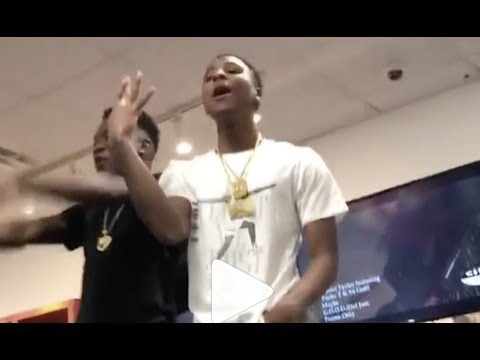 """NBA YoungBoy """"Raps In Shoe Store Turns Mall Into Mini Concert """""""