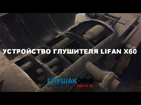 видео: Конструкция глушителя lifan x60 - причины выхода из строя | ГлушакоФФ