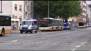 [Polizeieskorte] Fanbusbegleitung in Darmstadt nach Fußballspiel -FC St. Pauli - SV Darmstadt 98-