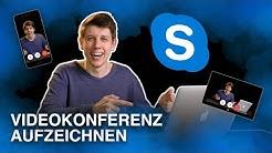 Skype Videokonferenz aufzeichnen - Online Meeting Tutorial deutsch