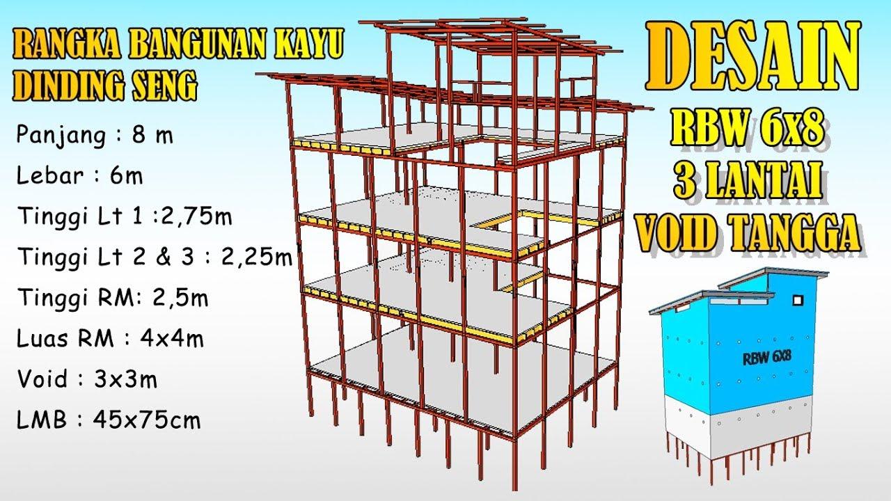 Desain Rumah Walet 6x8 Dinding Seng Void Tangga Youtube