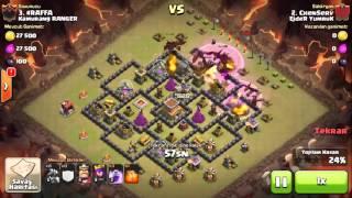 Clash OF Clans Ejder YumruK Klanı Pro Başarılı EjdeR Saldırısı ChenServ !!!